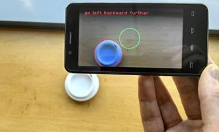 Navegación de un círculo con un smartphone